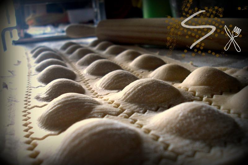 Raviolis de champiñones