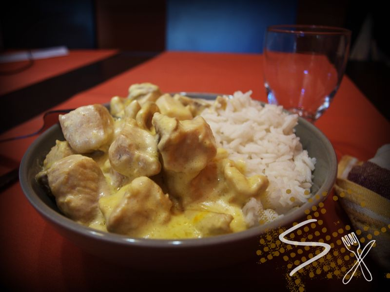 Pollo al curry rápido